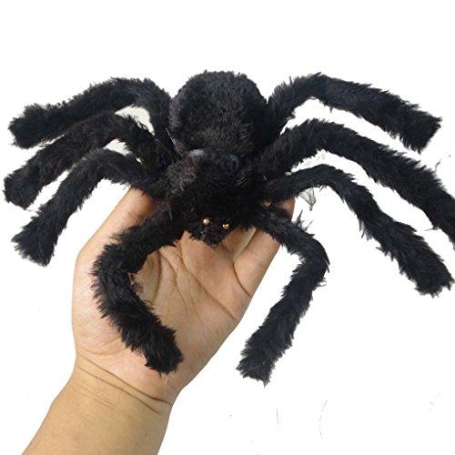 Aulley NEUE schwarze Spinne Halloween Dekoration Haunted Haus Stütze Indoor Outdoor (Spinne Behaarte Schwarze)