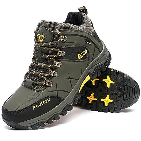 Bottes de randonnée Hommes Chaussures de randonnée Sneaker Mountain Walking Voyage Outdoor Boot High Top par GOMEANR