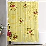 LIUYAN Tenda da Doccia con Gancio - Winnie Pooh Tessuto di Poliestere Impermeabile Decorazione Bagno 152,4 x 182,9 cm
