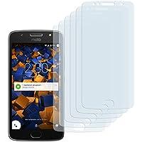 6 x mumbi Displayschutzfolie für Motorola Moto G5S Folie Schutzfolie (bewusst kleiner als das Display, da dieses gewölbt ist)