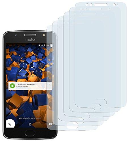 mumbi Schutzfolie kompatibel mit Motorola Moto G5S Folie klar, Bildschirmschutzfolie (6x)