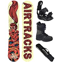 AIRTRACKS SNOWBOARD SET - TABLA RED SNAKE CARBON 151 - FIJACIONES STAR - BOTAS SAVAGE BL QL 40 - SB BOLSA/ NUEVO