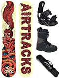 AIRTRACKS SNOWBOARD SET - BOARD RED SNAKE 151 - SOFTBINDUNG
