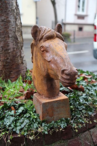 Skulptur Figur Pferd Eisen sculpture iron horse 62cm Pferdekopf Gewicht 25kg