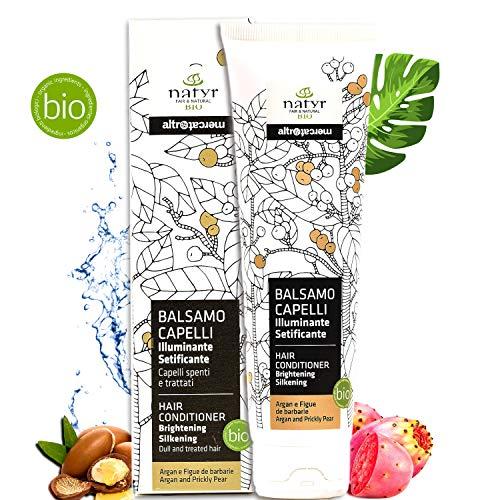 Natyr® Bio Pflege-Spülung - Der Beauty Wunder Nr.1 Haar-Conditioner aus Italien - Reine Naturkosmetik mit Argan-Öl, Feigenkaktus & Aloe Vera ohne Silikon, SLS und Parabene [Natrue]