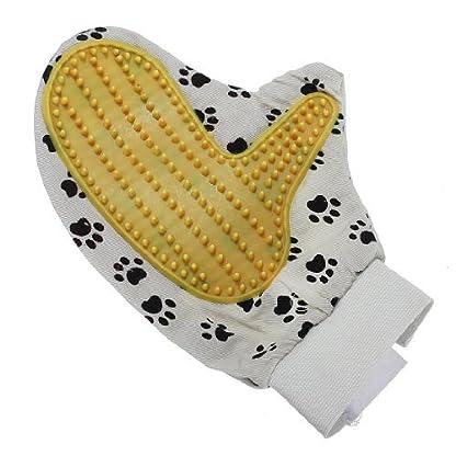 Water & Wood Pet Dog Puppy Cat Kitten Grooming Brush Massage Clean Cleaning Bath Hand Glove 3