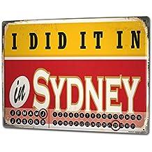 Calendario perpetuo Ciudad Sydney Australia Metal Imantado