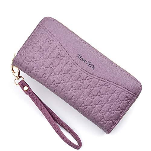 HDaiy Damen Geldbörse Id Lange Brieftasche Süße Geldbörse Reißverschluss Kupplung, Lila