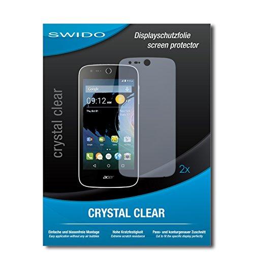 SWIDO Schutzfolie für Acer Liquid M330 [2 Stück] Kristall-Klar, Hoher Härtegrad, Schutz vor Öl, Staub & Kratzer/Glasfolie, Bildschirmschutz, Bildschirmschutzfolie, Panzerglas-Folie