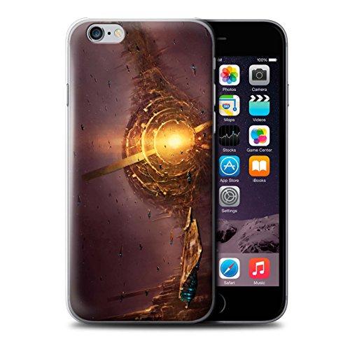 Offiziell Chris Cold Hülle / Case für Apple iPhone 6S / Exoplanet Muster / Galaktische Welt Kollektion Raumfahrzeug