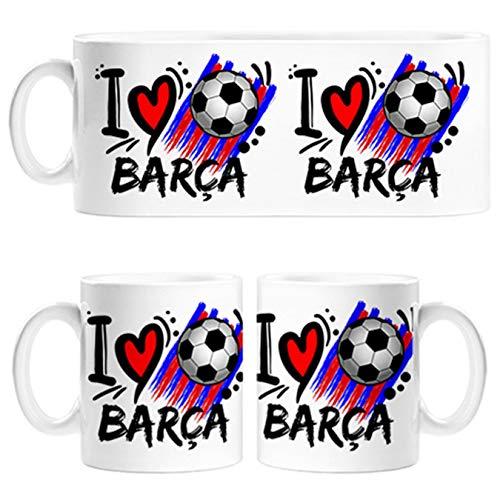 Taza I Love Barça fútbol - Cerámica