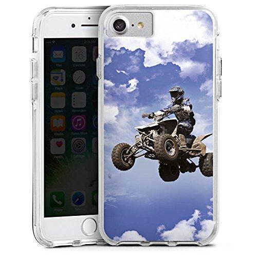 Apple iPhone 7 Plus Bumper Hülle Bumper Case Glitzer Hülle Quad Motocross Sport Bumper Case transparent