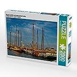 Segelschiffe im Oudeschild Hafen 2000 Teile Puzzle Quer