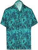HAPPY BAY 3D HD Camicia Hawaiana per Il Tasto Uomini Maniche Corte Giù Diffuse Collare Partito di Festa Funziona Aloha...