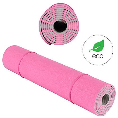 Reinigen Hanf-teppich (Yogamatte KeenFlex - Sehr bequem 6 mm dick und rutschfest Ideal für Yoga Pilates Gymnastik und Fitness Umweltfreundlich & recycelbar Tragegurt gratis!)