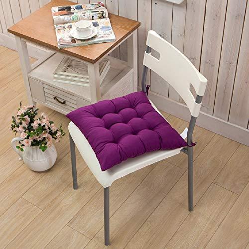 SEnjoyy Lila Stuhlkissen Stuhlauflage Sitzpolster Kissen Sitzkissen mit Schleifenband