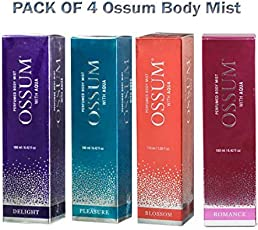 Pack of four Ossum Body Mist 115 Ml