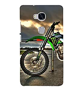 Racing Bike 3D Hard Polycarbonate Designer Back Case Cover for Huawei Honor 5X :: Huawei Honor X5 :: Huawei GR5