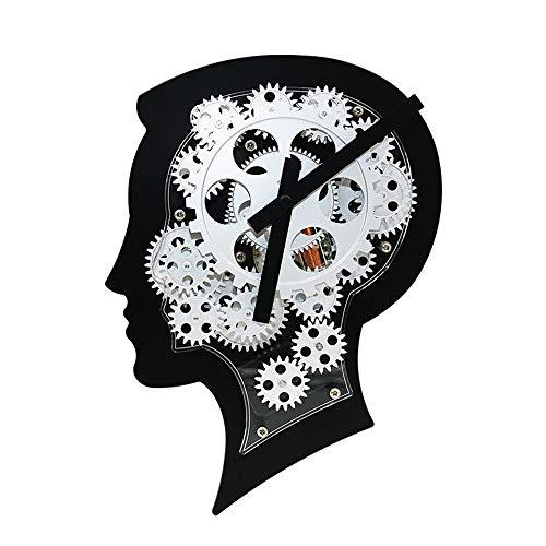 Retro Reloj de Pared del Engranaje Viento Industrial, Creativo Mudo, Adecuado para Sala Café Bar Art º