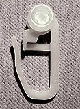 heimtexland 100 Stück Gardinenröllchen für Schienen Innenlauf Gardinen Röllchen Gardinenrollen Vorhang Gleiter Faltenhaken Typ517