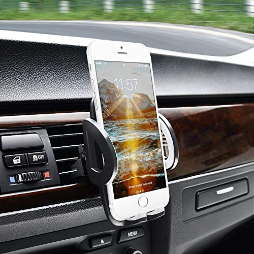 Pjp Electronics Car Vent Phone Holder, Adjustable 360 Car Air Vent Phone Holder For iPhone 8 / X / 9 / XS XR XS MAX, iPhone Plus, Xiaomi, Samsung Galaxy S8 S7 S9, Note, Huawei, Nokia Smartphone