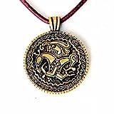 Runen-Amulett - Replik nach dem berühmten Seeland-Brakteat aus der germanischen Eisenzeit Farbe messingfarben