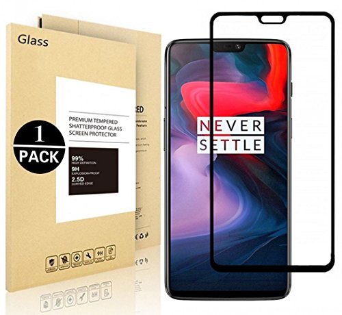 OnePlus 6 Protective Films, Voigeer [1 Pack] [0,3mm, 2,5D] [9H Hardness] [Easy to Install] [HD Clear] Tempered Glass Screen Protector for OnePlus 6