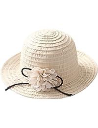 Gespout Eleganti Cappello di Paglia Donna Estivo Protezione UV Cappello da  Sole Berretto in Tessuto a a46667676d3b