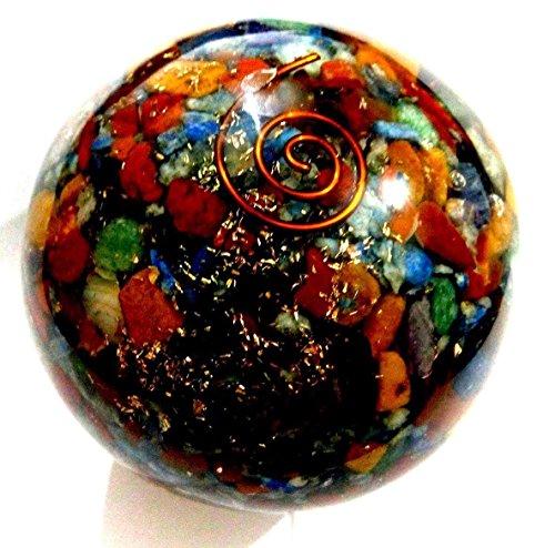 Healing Crystals India SB0258 Orgon-Chakra-Kugel, 50-60 mm, 1 Stück, mehrfarbig -