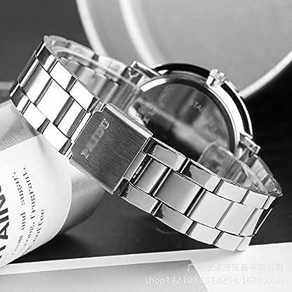 Yogogo-Herren-Quartz-Analog-Armband-1-Cent-Artikel-Armbanduhr-Edelstahlband-Dekoration-Geschenk-Alugehuse-Quarzwerk-Wasserdicht-Sportuhr-Drehscheibe-Dial-205cm-Bandlnge