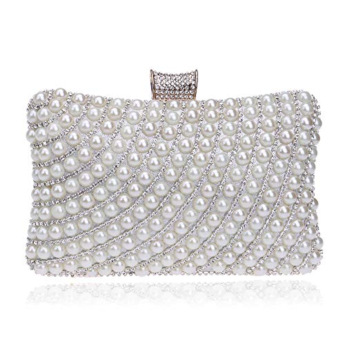 Kupcak Pearl Lady Dinner Kleid Clutch Bag Tote Ball Abend Paket Silber - Pearl-kleid