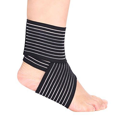 Qchomee Unisex Knöchel Fußgelenk-Bandage Knöchelschutz Sport Sprunggelenk-Bandage Stützbandage Fußgelenk-Bandage mit Verletzung Erholung Knöchel-Bandage Fußbandage für Damen Männer zum Fußball Laufen