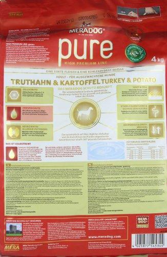 Mera Dog Pure Truthahn&Kartoffel getreidefrei, 1er Pack (1 x 4 kg) - 6
