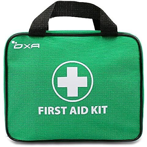 OXA Botiquín de Primeros Auxilios de 100 Artículos, Certificado por FDA, Ideal para Viajes, Oficina, Deportes, Inicio (Verde)