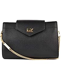 MICHAEL by Michael Kors Black Medium Leather Crossbody Clutch