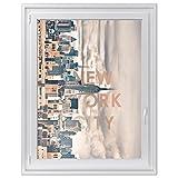 Fensterfolie Sichtschutzfolie für Küche und Bad | dekoratives Fenster-bild - selbstklebende Glasfolie für Fenster in Schlafzimmer und Wohnzimmer | Fensterfolie 90 x 120 cm - Motiv New York City