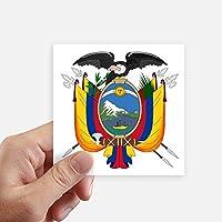 DIYthinker Quito Ecuador Nacional Plaza Emblema Pegatinas Pared de 10 cm Maleta portátil Motobike Decal 8pcs