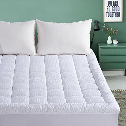 Extra Lange Matratze Pads (EMONIA Pillow Top Matratzenauflage Full weiß)