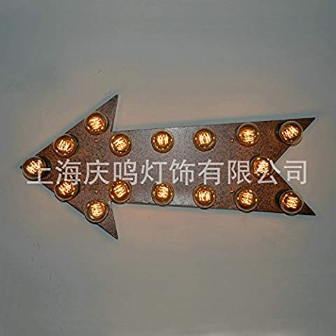 Modern Decorative lampada da parete a parete Vintage lampada , lampada da parete a freccia , bar lampada, casa decorazione a doppia lampada da parete a parete di Ferro , lampada , 60
