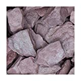Canadian Slate Violett, Flacher Schiefersplitt mit violetter Farbe, Dekorativer Zierkies für Den Garten, 30-60mm, 20 kg Sack, Kieselsteine, Ziersplitt