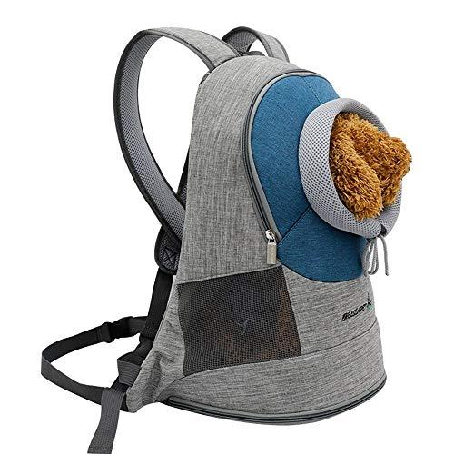LCLZ Umweltfreundlich Kation Haustier Brust Umhängetasche Aufschluss Haustier Heraus Tragbarer Rucksack Katzenrucksack Hundezubehör Atmungsaktiv (Farbe : Blue) -