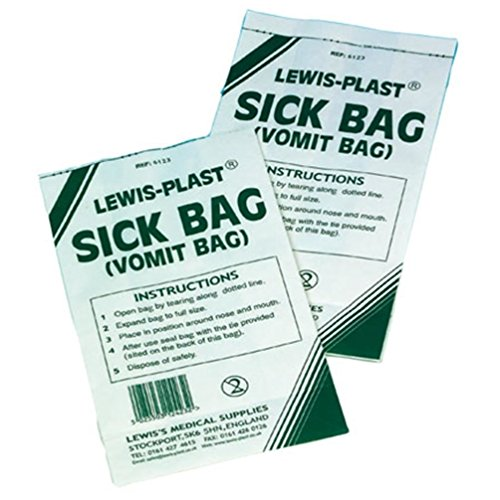 Preisvergleich Produktbild Lewis Sick Bag - Travel Sickness Bag - by Lewis