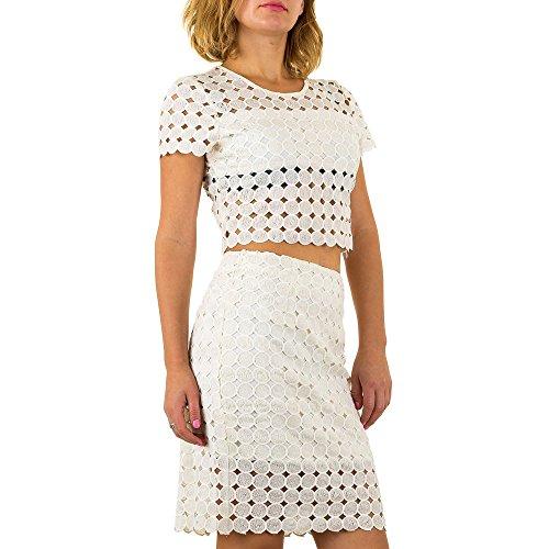 2 Teiler Anzug Für Damen bei Ital-Design Creme