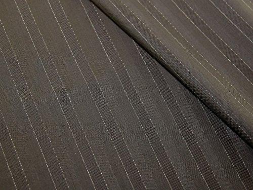 Wolle Nadelstreifen Passend (Minerva Crafts Italienisches 100% Virgin Wolle Nadelstreifen Passend Kleid Stoff trüffel-Meterware)