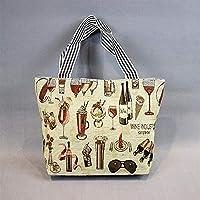 Preisvergleich für Yudanwin Leinwand-Lunch-Tasche Student Lunch Bag Cartoon Lunch Box Tasche Picknick-Tasche (erste)