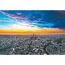 NAUY- Juguetes educativos Vista panorámica de la madera de París 1000 Tabletas Rompecabezas Niños Puzzle (75 * 50cm)
