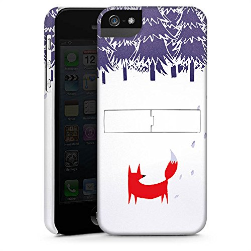 Apple iPhone X Silikon Hülle Case Schutzhülle Wald Fuchs Kunst Premium Case StandUp