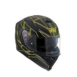 AGV Motorradhelm K-5 S E2205 Multi, Hero Black/Yellow Fluo, Größe L