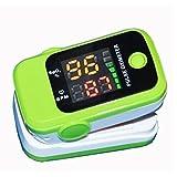 bezeichnet den Clip Führende, Finger Typ Pulse Sauerstoffsättigung Monitor, Herzfrequenz Meter, Home und Geschenk geben, das neue Design, einfache Bedienung. Fünf Arten von Farbe Fehler ist klein, einfach zu tragen, W, grün