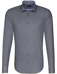 SEIDENSTICKER Herren Hemd Slim 1/1-Arm, extra lang Bügelleicht City-Hemd Kent-Kragen Kombimanschette weitenverstellbar